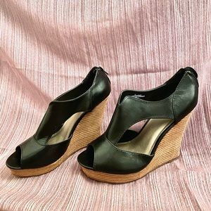Mossimo Black Chunky Wedged Heels